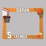 Basketbol Tasarımlı Doğum Günü Fotoğraf Çerçevesi - Hatıra Çerçevesi