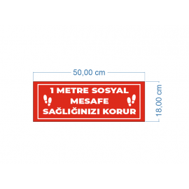 Sosyal Mesafe Koruma Levhaları 50x24 cm