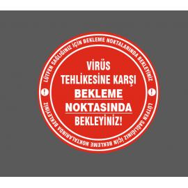 ZEMİN UYARI ETİKETİ, BEKLEME NOKTASI STİCKER, UYARI ETİKETİ-1
