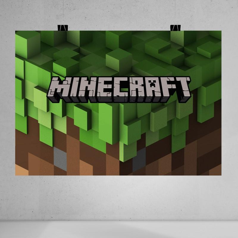 Minecraft Baskılı Poster