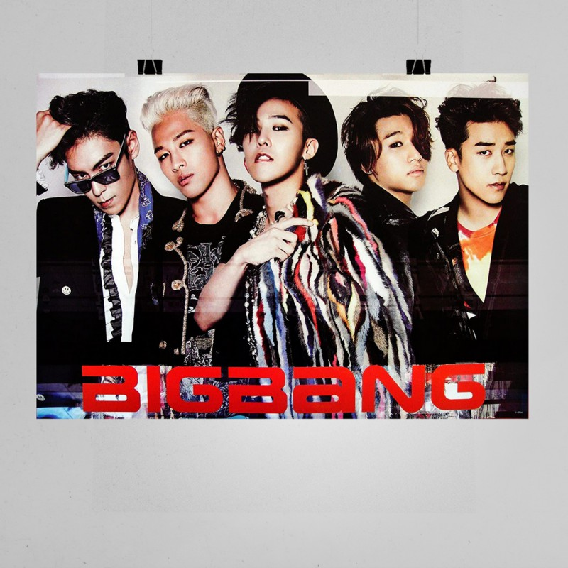 Bigbang Müzik Grubu Posteri - K Pop Afişleri